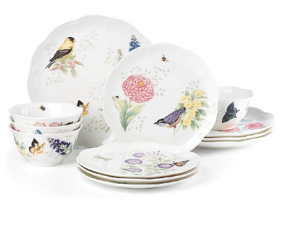 Butterfly Meadow Flutter 12-piece Dinnerware Set