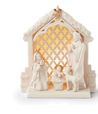 Illuminations™ Lit Nativity Scene