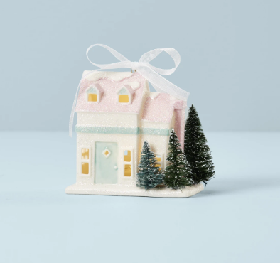 Light-Up Cape Cod House Ornament