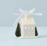 Light-Up Colonial House Ornament