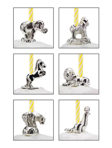 Let's Celebrate 6-piece Circus Animals Candle Set