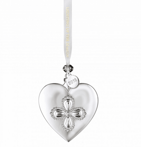 2018 Silver Heart Ornament - LAST IN STOCK