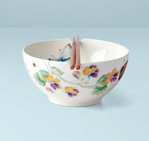 Butterfly Meadow Noodle Bowl With Chopsticks