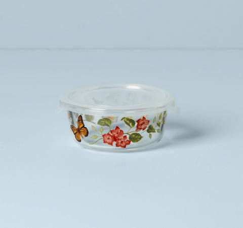 Butterfly Meadow Small Glass Food Container