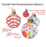3 Box Wreaths Personalized Christmas Cards (Set of 50)