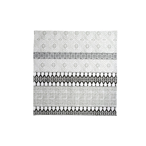 Bohemian Linens Gray/Black Napkins - Set of 4