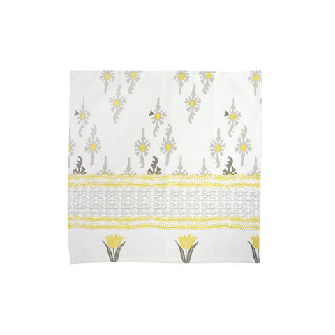 Bohemian Linens Gray/Yellow Napkins - Set of 4