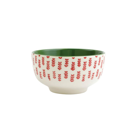 Mistletoe Arrow Small Footed Serving Bowl