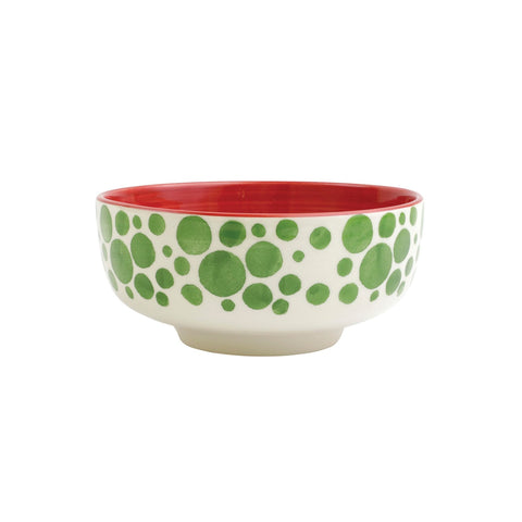 Mistletoe Bubble Medium Footed Serving Bowl