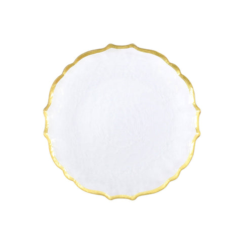 Baroque Glass Clear Salad Plate