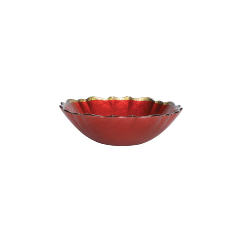Baroque Glass Red Small Bowl