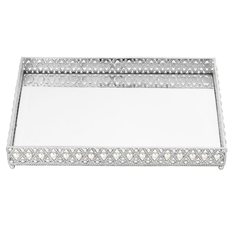 Large Pegeen Beveled Mirror Tray