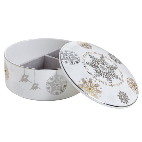 Prouna Winter Crystal Jewelry Box  Platinum Rim Dalmazio Design