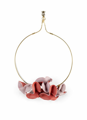 Lola Open Choker. Pink & Red