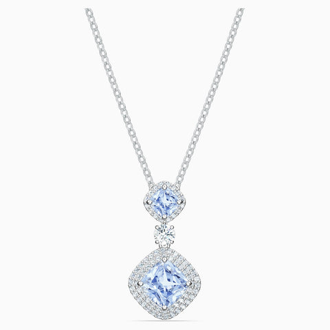 Dalmazio Design - Swarovski Angelic Necklace, Blue, Rhodium Plated
