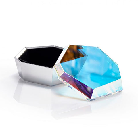 Rock Small Box&#44 Silver