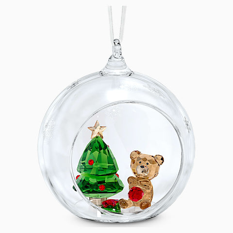 Dalmazio Design - Swarovski Ball Ornament, Christmas Scene