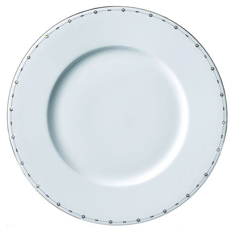Best Wishes II Charger Plate, Platinum