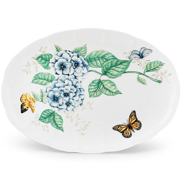 "Butterfly Meadow® 16"" Oval Serving Platter"