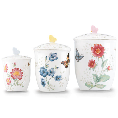 Lenox Butterfly Meadow® 3-piece Canister Set Dalmazio Design