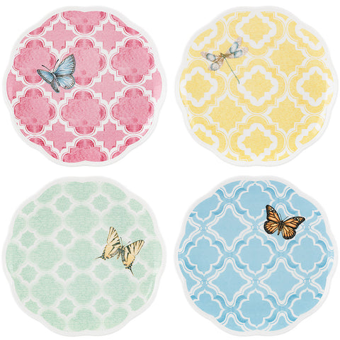 "Lenox Butterfly Meadow® Trellis 4-piece 8"" Dessert Plate Set by Lenox - LAST IN STOCK Dalmazio Design"