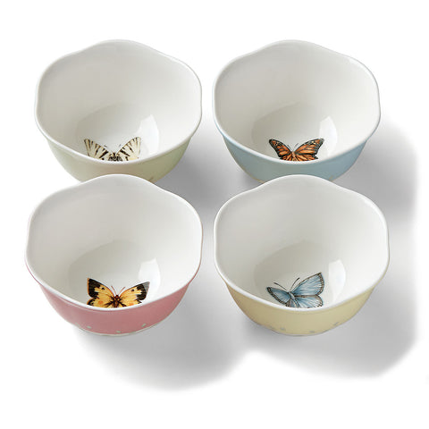 Lenox Butterfly Meadow ® 4-piece Dessert Bowl Set Dalmazio Design