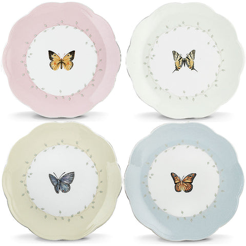Lenox Butterfly Meadow® 4-piece Dessert Plate Set Dalmazio Design