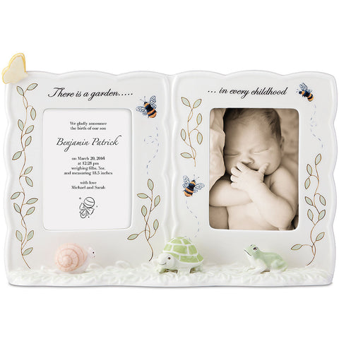 Lenox Butterfly Meadow® Baby Double Frame - LAST IN STOCK Dalmazio Design