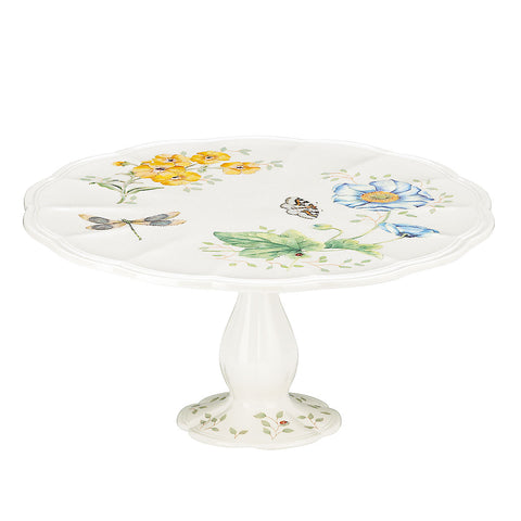 Lenox Butterfly Meadow® Pedestal Cake Plate - DISCONTINUED Dalmazio Design