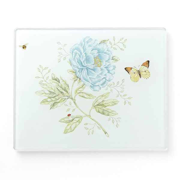 Lenox Butterfly Meadow® Small Glass Cutting Board Dalmazio Design