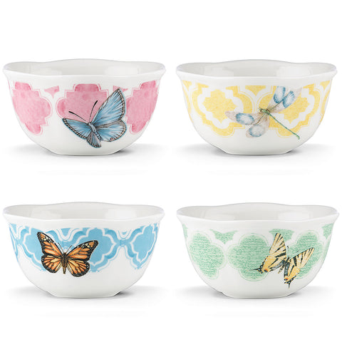 Lenox Butterfly Meadow® Trellis 4-piece Dessert Bowl Set by Lenox - LAST IN STOCK Dalmazio Design