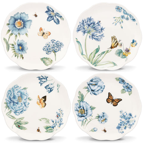 Lenox Butterfly Meadow Blue® 4-piece Dessert Plate Set Dalmazio Design