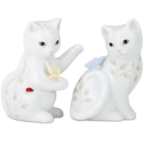 Lenox Butterfly Meadow Figural® Kitten Salt and Pepper Shaker Set Dalmazio Design