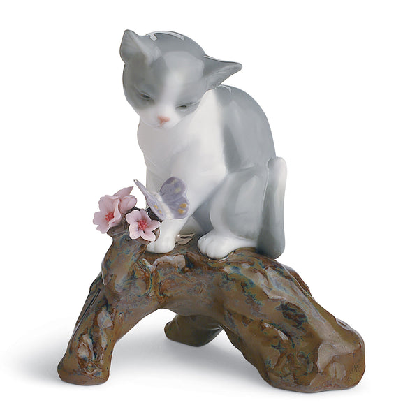 Lladro Blossoms for The Kitten Cat Figurine - Dalmazio Design