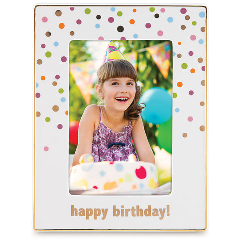 "Lenox Candles and Confetti™ Happy Birthday 4"" x 6"" Frame - LAST IN STOCK Dalmazio Design"