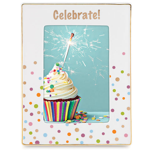 "Candles and Confetti™ Celebrate 4"" x 6"" Frame - LAST IN STOCK"