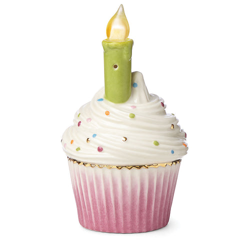 Lenox Candles & Confetti™ Musical Lighted Cupcake with Blowout Candle by Lenox - LAST IN STOCK Dalmazio Design