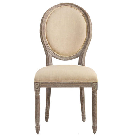 Ivory Linen Louie Chair Rental