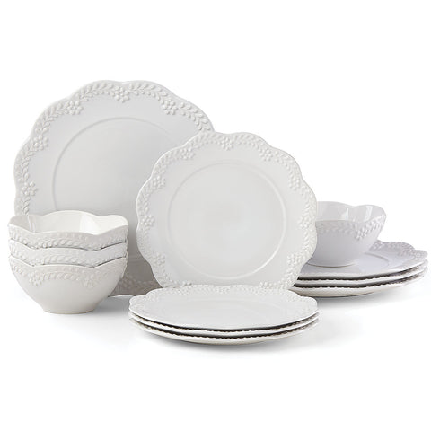Chelse Muse Floral White™ 12-piece Dinnerware Set