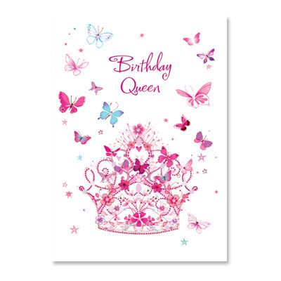 Butterfly Birthday Queen Birthday Card