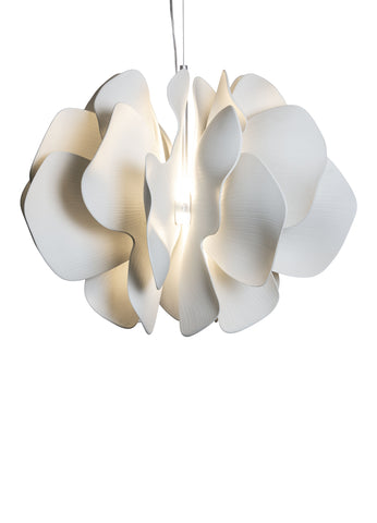 Lladro Nightbloom Hanging Lamp 60cm. White. (US) Dalmazio Design