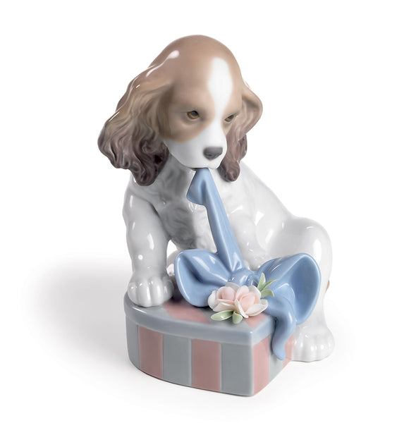 Lladro Can't Wait Dog Figurine - Dalmazio Design