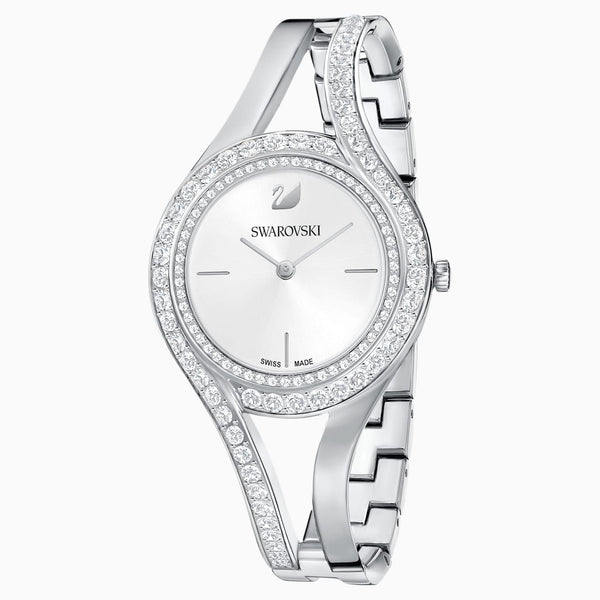Swarovski Eternal Watch; Metal Bracelet; White; Stainless Steel Dalmazio Design