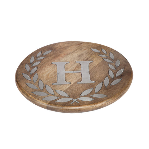 GG Collection Trivet W/Letter H Dalmazio Design