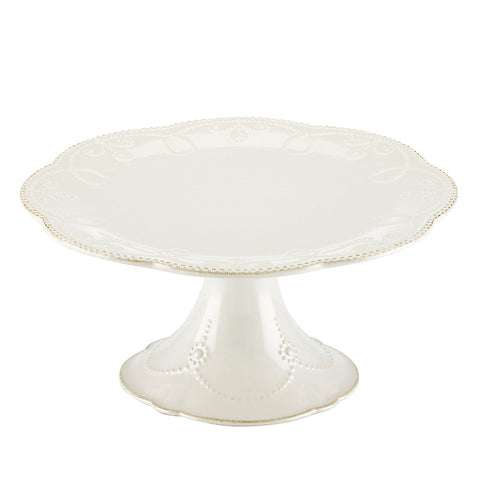 French Perle White™ Pedestal Cake Plate