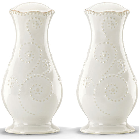 Lenox French Perle White™ Salt and Pepper Shaker Set Dalmazio Design