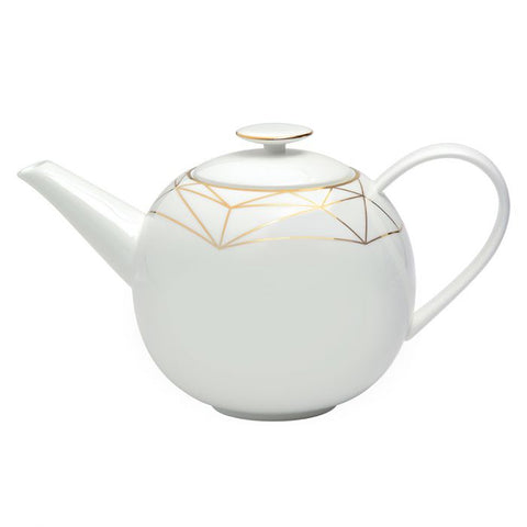 Gem Cut Gold Teapot