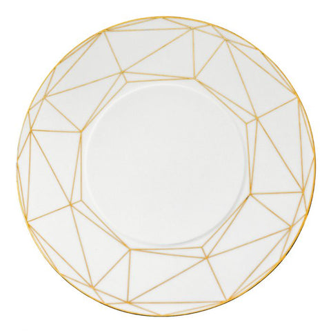 Gem Cut Gold Round Serving Platter