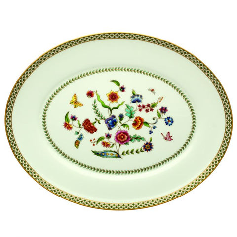 "Gione 16"" Oval Platter, Gold"