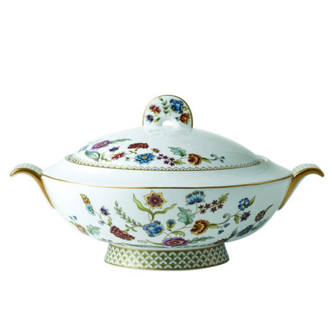Gione Covered Vegetable Bowl / Soup Tureen (Large), Gold